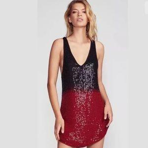 Free People Iryna Dip Dye Beaded Holiday Dress S